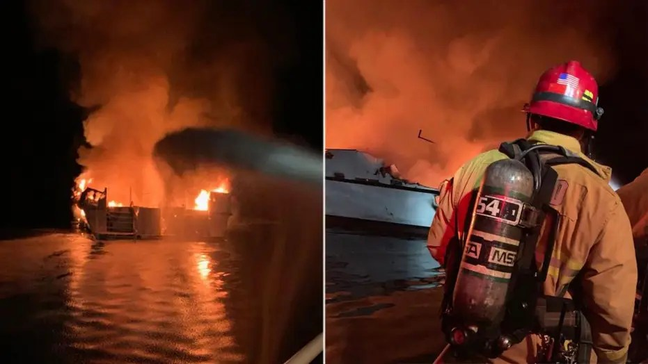 33 people feared dead after boat catches fire off California's Santa Cruz Island
