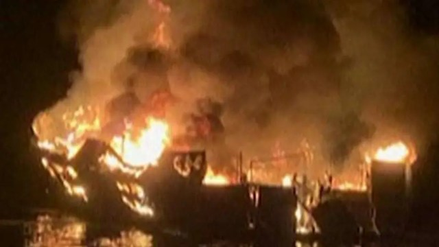 Coast Guard: Eight bodies recovered, 26 people still missing after deadly boat fire in California
