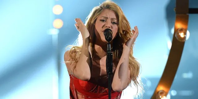 Shakira performs onstage during the 49th Annual Academy Of Country Music Awards.