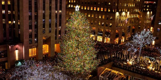 The 85th annual Rockefeller Center Christmas tree lighting ceremony on Nov. 29, 2017.