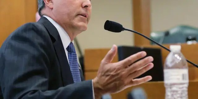 In this July 29, 2015, file photo, Texas Attorney General Ken Paxton speaks during a hearing in Austin, Texas. (AP Photo/Eric Gay, File)