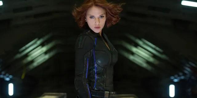 Scarlett Johansson as Black Widow in a scene from Marvel's 'Avengers: Age Of Ultron.'