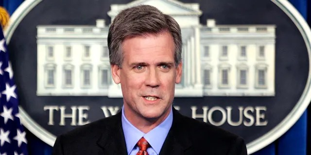 FILE -- April 26, 2006: Tony Snow speaks to reporters after President George W. Bush announced that Snow would serve as the new White House press secretary.