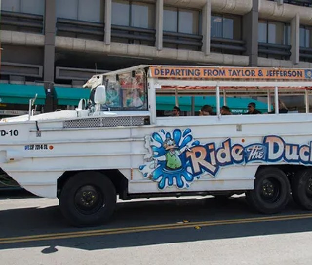 Duck Boats Are Known For Their Ability To Travel On Land And In Water Have