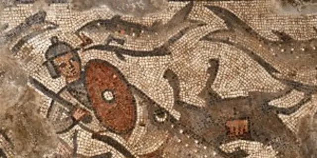 The parting of the Red Sea mosaic.