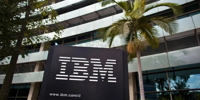 The IBM logo outside the company's offices in Petah Tikva, Israel, in 2011. (REUTERS/Nir Elias, File)