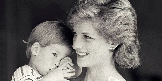 Britain's Princess Diana holds Prince Harry during a morning picture session at Marivent Palace, where the Prince and Princess of Wales are holidaying as guests of King Juan Carlos and Queen Sofia, in Mallorca, Spain August 9, 1988.