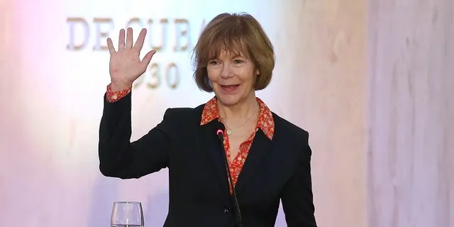 Minnesota Lt. Gov. Tina Smith was selected by the state's governor to finish out Al Franken's term in the U.S. Senate. (Reuters/Alexandre Meneghini)