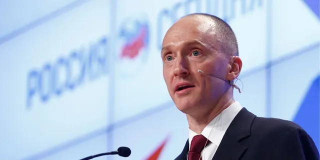 One-time advisor of U.S. president-elect Donald Trump Carter Page addresses the audience during a presentation in Moscow, Russia, December 12, 2016. REUTERS/Sergei Karpukhin - RC165B503FF0
