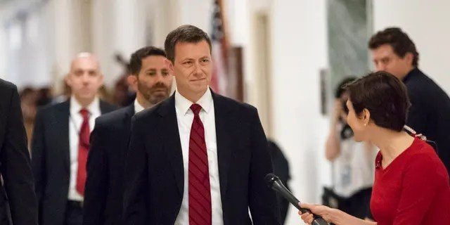 """Former FBI Agent Peter Strzok is a """"lowlife,"""" Trump said Sunday, adding that President Obama likely was aware of his activities."""