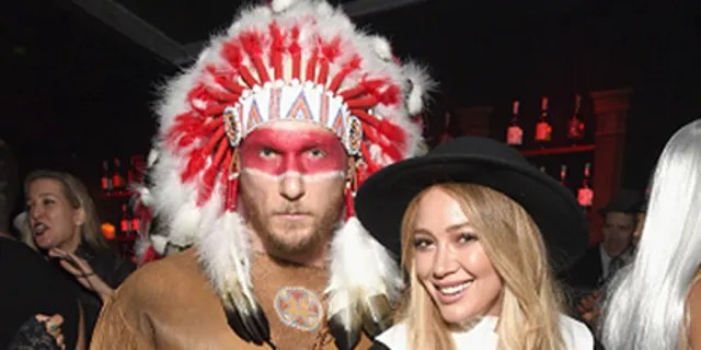Hilary Duff and ex-boyfriend Jason Walsh attended the Casamigo's Halloween Party at a private residence on Oct. 28, 2016 in Beverly Hills, Calif. wearing Thanksgiving-themed costumes. (Michael Kovac / Getty Images for Casamigos Tequila)