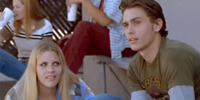 "Busy Phillipps and James Franco in a scene from the TV series ""Freaks and Geeks."""