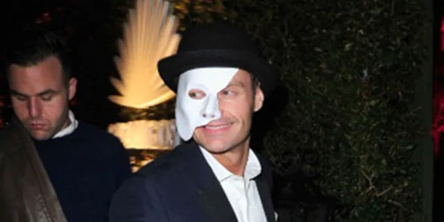 "Ryan Seacrest attended the 2013 Casamigos Halloween Party as ""The Phantom of the Opera."" (Photo by Jerod Harris / Getty Images)"