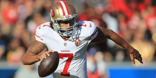 Colin Kaepernick set an NFL record for quarterbacks by rushing for 181 yards in a playoff win against Green Bay on Jan. 12, 2013.