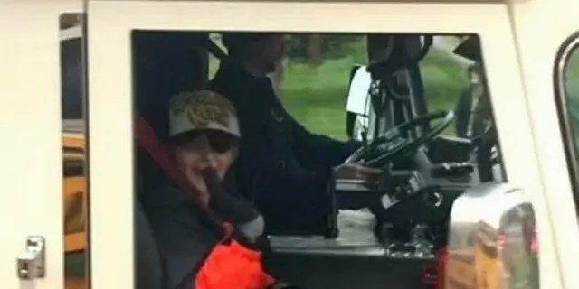 Burkett even took a ride in the Stow Fire Department fire truck.