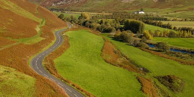 The A701 from Moffat to Edinburgh in the Scottish Borders ranked third on the list.