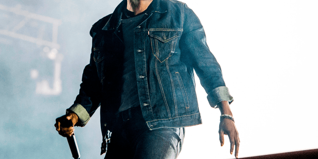 Kendrick Lamar performs during the Festival d'ete de Quebec in Quebec City, Canada.