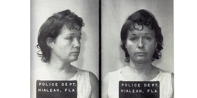Bettie Page mugshot. — Splash
