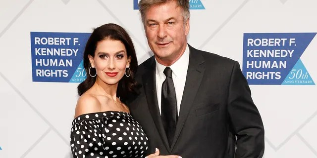 Hilaria Baldwin, left, and Alec Baldwin, right, attend the 2018 Robert F. Kennedy Human Rights Ripple of Hope Awards at the New York Hilton Midtown on Wednesday, Dec. 12, 2018, in New York.