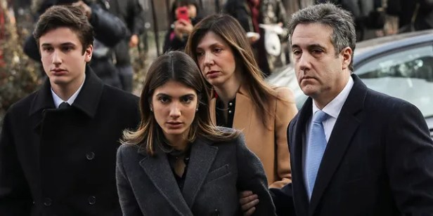 Michael Cohen, President Donald Trump's former personal attorney and fixer, arrives with his family at federal court for his sentencing hearing on December 12, 2018 in New York City. (Photo by Drew Angerer/Getty Images)