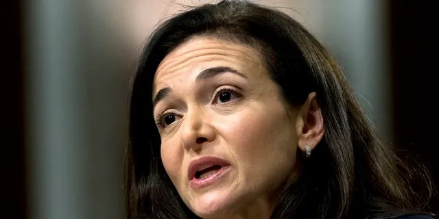In this Sept. 5, 2018, file photo Facebook COO Sheryl Sandberg testifies before the Senate Intelligence Committee hearing on Capitol Hill in Washington.