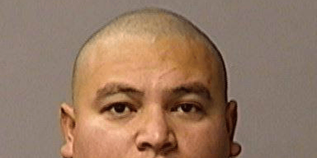 FILE - This undated booking file photo provided by the Stanislaus County Sheriff's Department shows Gustavo Perez Arriaga. Prosecutors charged Perez Arriaga on Wednesday, Jan. 2, 2019, with murder in the killing of Newman police Cpl. Ronil Singh. He was arrested Friday in the Dec. 26 shooting during a traffic stop. (Courtesy of Stanislaus County Sheriff's Department via AP, File)