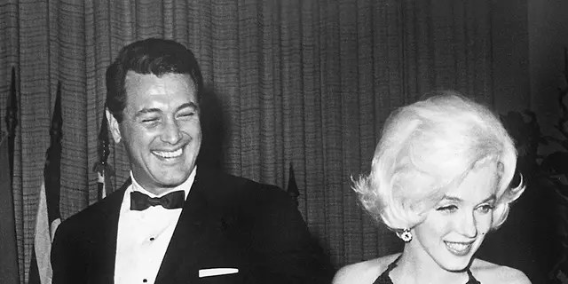 Marilyn Monroe with Rock Hudson at the Golden Globe Awards, March 1962