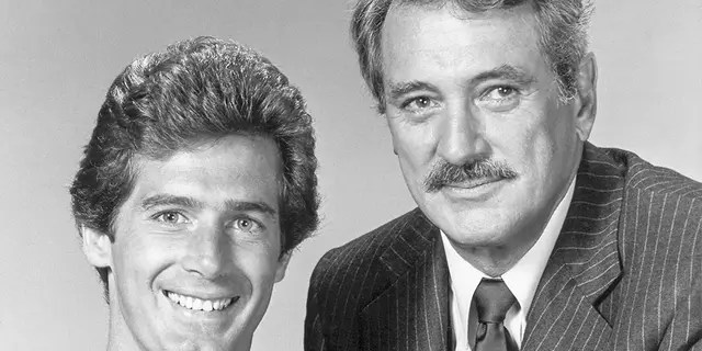 """Rock and protege Jack Scalia starred in the ill-fated NBC series """"The Devlin Connection,"""" which debuted in 1982."""