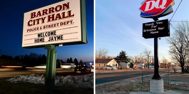The town welcomed Jayme Closs back home after she went missing for nearly three months.