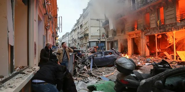 An explosion in French capital Paris on January 12, 2019 caused fire and injuries.