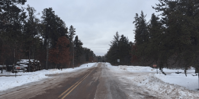 This is the road that Jayme Closs was found on. (Cristina Corbin/Fox News)