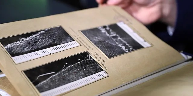Files seen at a press conference on Feb. 4, 2019, on the Dyatlov Pass Incident that authorities reopened.