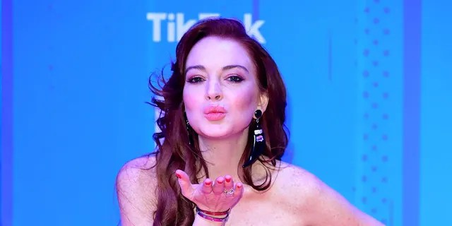 Lindsay Lohan attends the MTV Europe Music Awards 2018 held at the Bilbao Exhibition Centre, Spain.