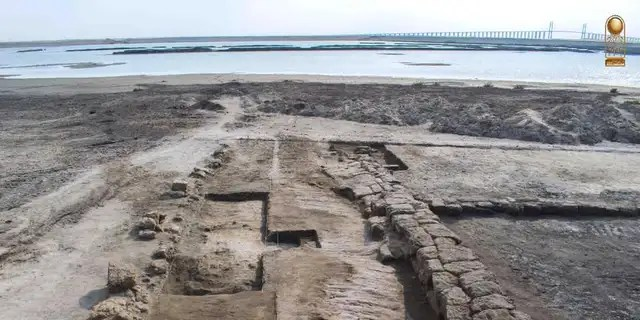 The shipyard dates back to the Ptolemaic era between 332 B.C. and 30 B.C. (Egyptian Ministry of Antiquities)