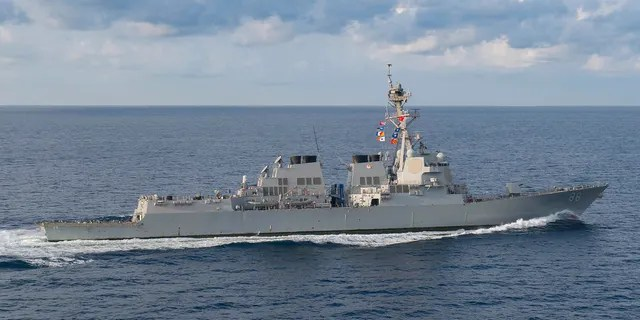 The USS Preble was one of two warships conducting the operation; they were shadowed by Chinese assets, but the interactions were routine and uneventful, according to a U.S. official. (Mass Communication Specialist 3rd Class Morgan K. Nall / U.S. Navy)