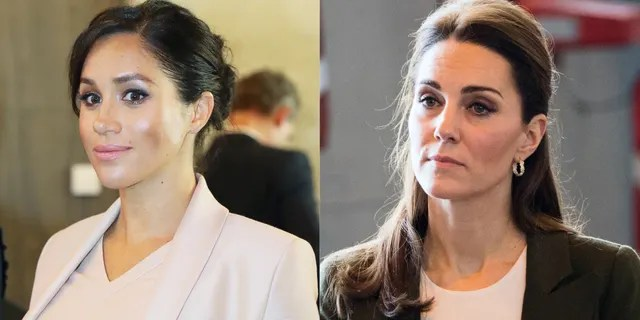 According to 'Finding Freedom,' Kate Middleton (right) allegedly felt she and Meghan Markle (left) didn't have much in common 'other than the fact that they lived at Kensington Palace.'