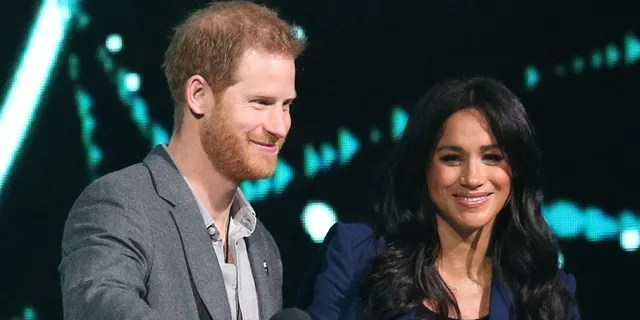 Le duc de Sussex et la duchesse de Sussex lors de sa visite à WE Day UK à la SSE Arena de Wembley, à Londres.