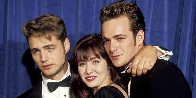 '90210' stars Jason Priestley, Shannen Doherty and Luke Perry.