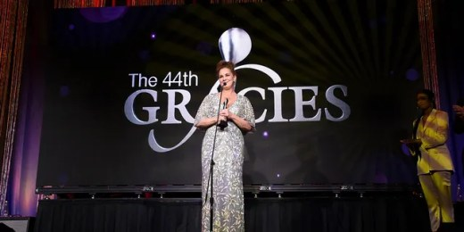 Elizabeth Perkins speaks onstage at the 44th Annual Gracies Awards, hosted by The Alliance for Women in Media Foundation on May 21, 2019 at the Four Seasons Beverly Wilshire Hotel in Beverly Hills, Calif.