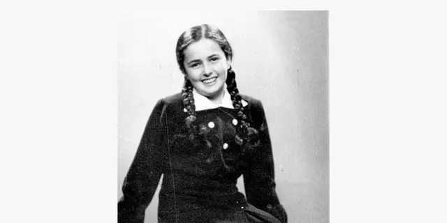 This photo shows a 13-year-old Eva Heyman, who was photographed months before her murder in a 1944 Nazi concentration camp in Hungary.