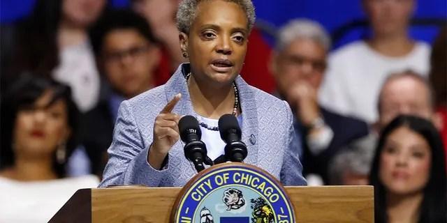 Mayor Lori Lightfoot speaks in Chicago, May 20, 2019. (Associated Press)