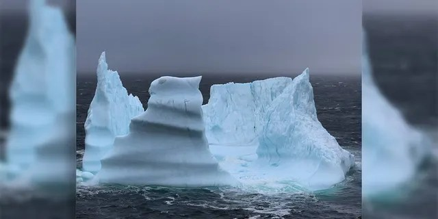 Gray compared this iceberg to a giant salad bowl as it broke up. (Mark Gray)