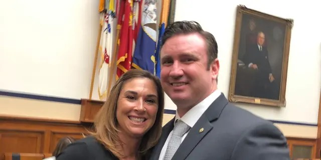 Rich and his wife Megan following his testimony in Washington D.C. on April 30th