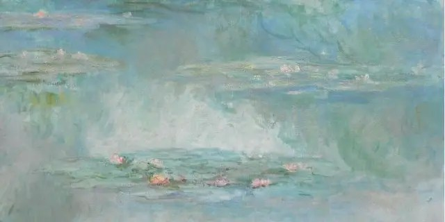 Claude Monet's Nymphéas (1908), oil on canvas.