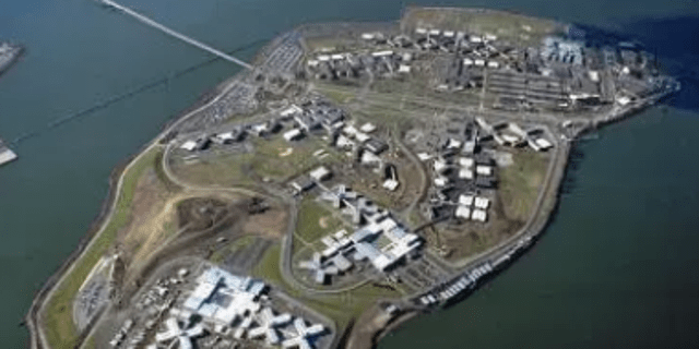An aerial view of Rikers Island, New York's City main jail complex which contains nine of New York City's 13 jail facilities.