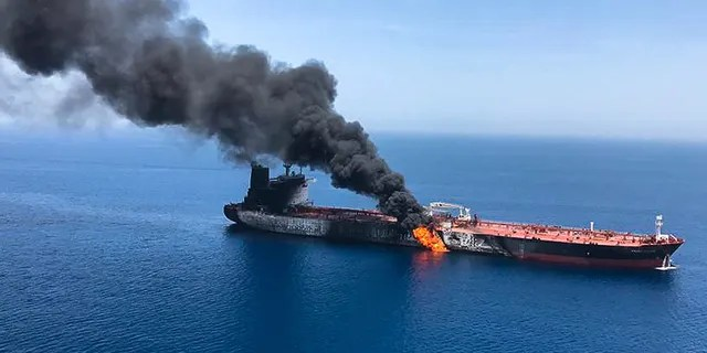 International Tanker Management, which operates the MT Front Altairsaidan explosion had caused a fire onboard.The firm told the Associated Press the incident is still being investigated and it was unclear what caused the explosion.Its 23 crew members were evacuated by the nearby South Korean-based Hyundai Dubai Vessel and are now safe, the firm said.