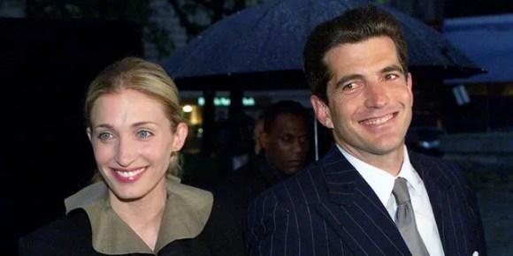 John F. Kennedy Jr. and his wife Carolyn, circa 1999.