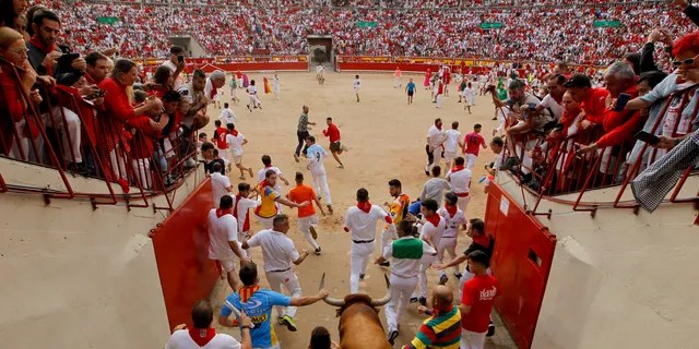 The San Fermin fiesta made internationally famous by Ernest Hemingway in his novel