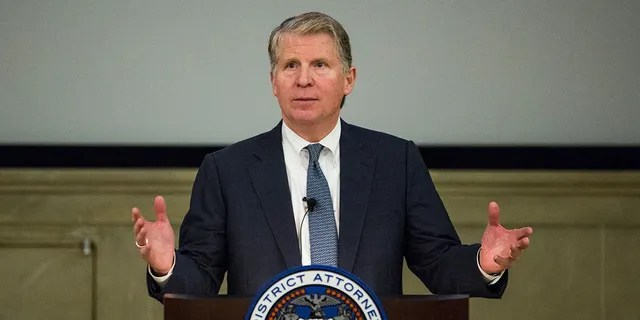 Manhattan District Attorney Cyrus Vance, Jr. speaks at global cyber security symposium at the Federal Reserve Bank of New York on November 18, 2015 in New York City. Vance called for a better way for government agencies to access private data in an effort to fight crime. (Photo by Andrew Burton/Getty Images)