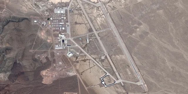 DigitalGlobe satellite image Area 51. The United States Air Force facility commonly known as Area 51 is a remote detachment of Edwards Air Force Base, within the Nevada Test and Training Range. (Photo DigitalGlobe via Getty Images)